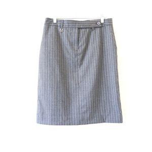 Michael Kors Pin Stripe Gray Skirt